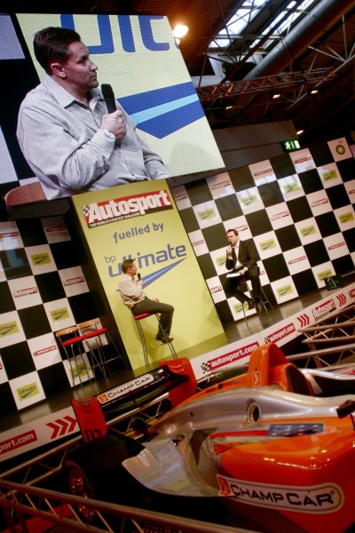 2007 Autosport International ShowNEC, Birmingham. 11th - 14th January 2007.Sainsburys Chief Executive on stage.World Copyright: Tim Clarke/LAT Photographicref: Digital Image _MG_4675