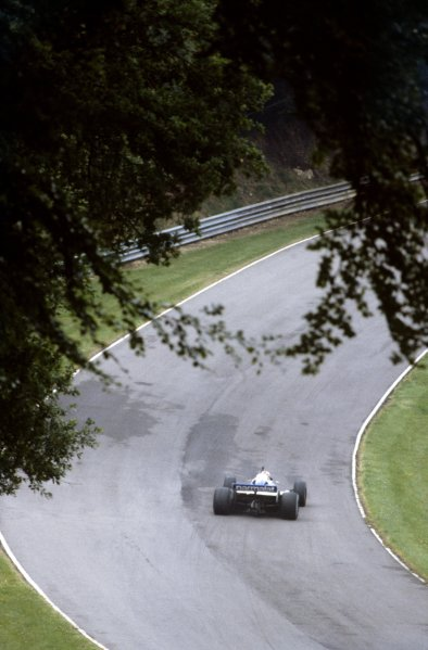 1982 British Grand Prix.Brands Hatch, Great Britain. 18 July 1982.Nelson Piquet, Brabham BT50-BMW, retired, action.World Copyright: LAT PhotographicRef: 35mm transparency 82GB48