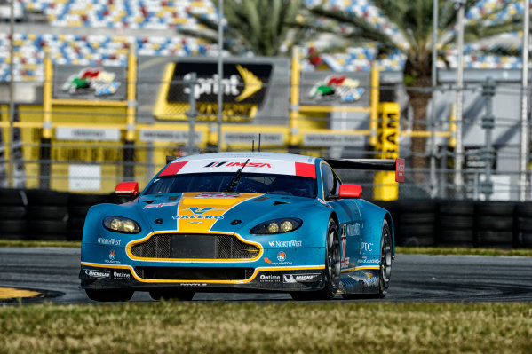 19-20 November, 2013, Daytona Beach, Florida The #007 Aston Martin Racing Vantage driven by Darren Turner, Paul Dalla Lana, and Pedro Lamy. @2013 Richard Dole LAT Photo USA