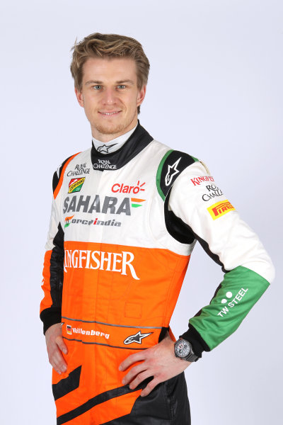 Force India VJM07 Online Launch Images 23 January 2014 Nico Hulkenberg, Force India Photo: Force India (Copyright Free FOR EDITORIAL USE ONLY) ref: Digital Image jm1423ja18