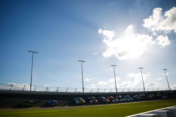 NASCAR Xfinity Series PowerShares QQQ 300 Daytona International Speedway, Daytona Beach, FL USA Saturday 17 February 2018 Joey Logano, Team Penske, Fitzgerald Glider Kits Ford Mustang leads the field World Copyright: Barry Cantrell LAT Images