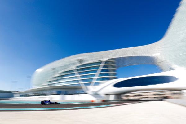 Yas Marina Circuit, Abu Dhabi, United Arab Emirates. Wednesday 29 November 2017. Charles Leclerc, Sauber C36 Ferrari.  World Copyright: Zak Mauger/LAT Images  ref: Digital Image _O3I1749