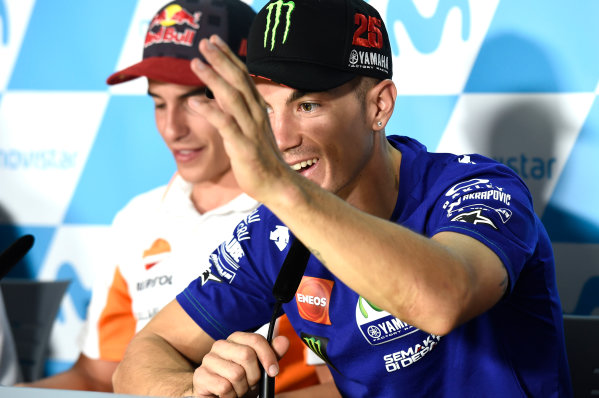 2017 MotoGP Championship - Round 14 Aragon, Spain. Thursday 21 September 2017 Maverick Viñales, Yamaha Factory Racing World Copyright: Gold and Goose / LAT Images ref: Digital Image 693436