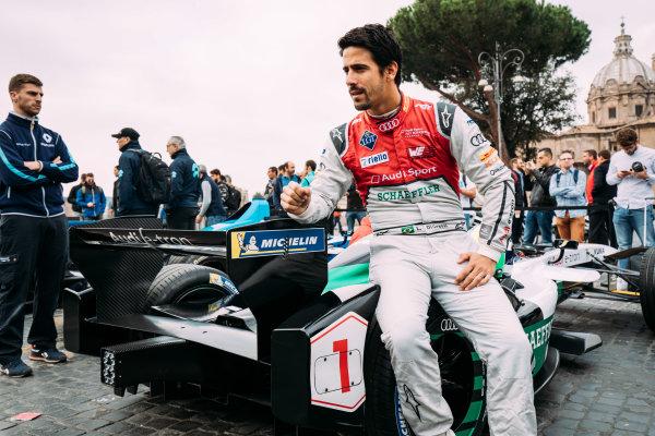 2017/2018 FIA Formula E Championship. Street Demonstration - Rome, Italy. Lucas Di Grassi (BRA), Audi Sport ABT Schaeffler, Audi e-tron FE04. Thursday 19 October 2017. Photo: Malcom Griffiths/LAT/Formula E ref: Digital Image MALC8669