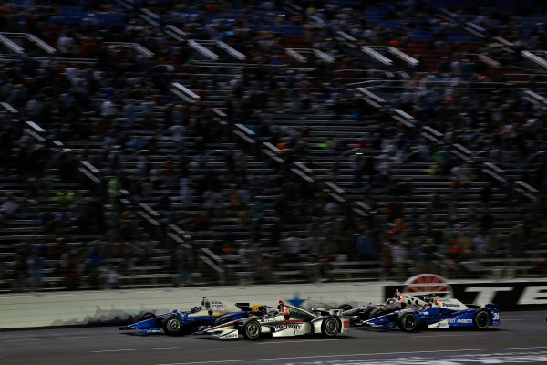Verizon IndyCar Series Rainguard Water Sealers 600 Texas Motor Speedway, Ft. Worth, TX USA Saturday 10 June 2017 Scott Dixon, Chip Ganassi Racing Teams Honda, Will Power, Team Penske Team Penske Chevrolet World Copyright: Phillip Abbott LAT Images ref: Digital Image abbott_texasIC_0617_5038