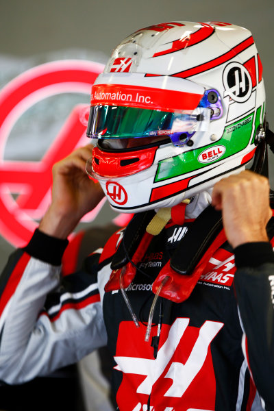Silverstone, Northamptonshire, UK.  Friday 14 July 2017. Antonio Giovinazzi, Haas VF-17.  World Copyright: /LAT Images  ref: Digital Image _ONY5462