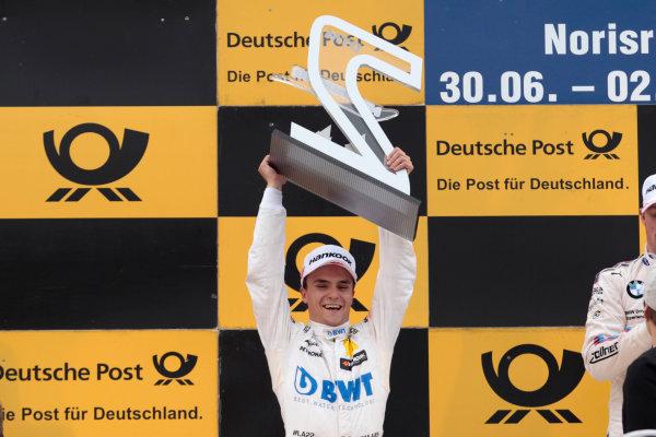 2017 DTM Round 4 Norisring, Nuremburg, Germany Sunday 2 July 2017. Podium: second place Lucas Auer, Mercedes-AMG Team HWA, Mercedes-AMG C63 DTM World Copyright: Alexander Trienitz/LAT Images ref: Digital Image 2017-DTM-R3-NOR-AT1-3814