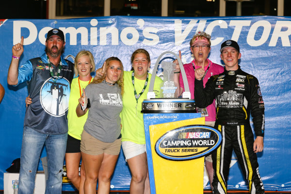 NASCAR Camping World Truck Series Drivin' For Linemen 200 Gateway Motorsports Park, Madison, IL USA Saturday 17 June 2017 John Hunter Nemechek, Chevrolet Silverado Victory Lane World Copyright: Barry Cantrell LAT Images