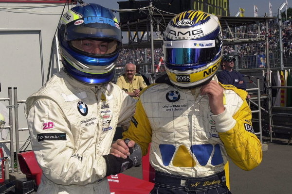Nico Rosberg (FIN), right, with Alexander Margaritis (GRE), left.