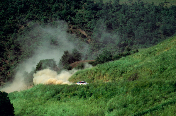 2003 Racing Past. . Exhibition1990 Rally of New Zealand. Carlos Sainz's Toyota Celica GT-Four powers through the hills.World Copyright - LAT PhotographicExhibition ref: a003
