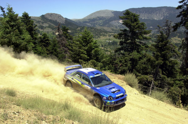 2001 World Rally Championship.Acropolis Rally June 14-17, 2001.Petter Solberg on stage 4 during leg one.Photo: Ralph Hardwick/LAT