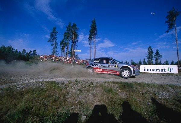 2002 World Rally ChampionshipNeste Rally of Finland. 8th - 11th August 2002.Rally winner Marcus Gronholm/Timo Rautianen, Peugeot 206 WRC, action.World Copyright: McKlein/LAT Photographicref: 35mm Image A01