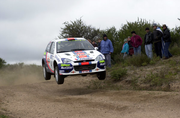 2001 World Rally Championship. ArgentinaMay 3rd-6th, 2001Colin McRae jumping on stage five.Photo: Ralph Hardwick/LAT
