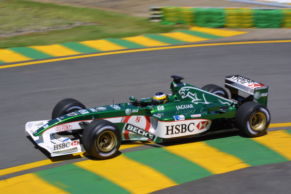 2002 Brazilian Grand Prix - Friday PracticeInterlagoes, Sao Paulo. 29th March 2002Pedro De La Rosa (Jaguar R3). World Copyright - LAT Photographicref: Digital File Only
