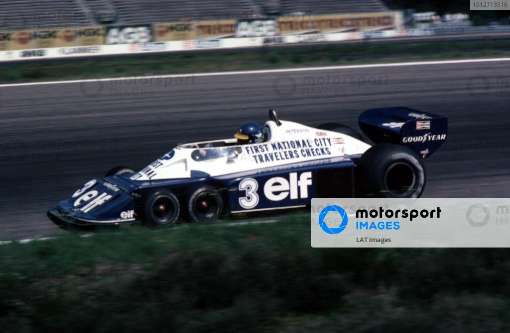 1977 Swedish Grand Prix.Anderstorp, Sweden.17-19 June 1977.Ronnie Peterson (Tyrrell P34 Ford).World Copyright - LAT Photographic
