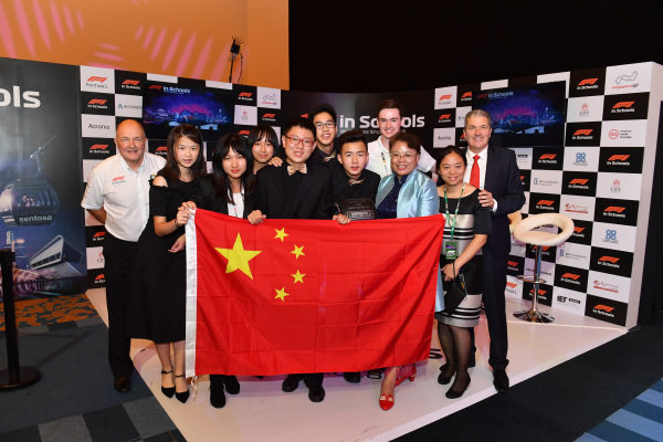Andrew Denford, F1 in Schools at F1 in Schools World Finals, Resorts World Sentosa, Singapore, Wednesday 12 September 2018.