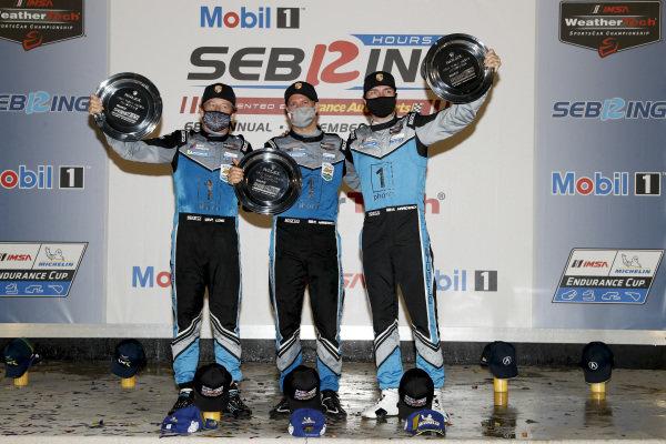 #16 Wright Motorsports Porsche 911 GT3 R, GTD: Ryan Hardwick, Patrick Long, Jan Heylen, podium
