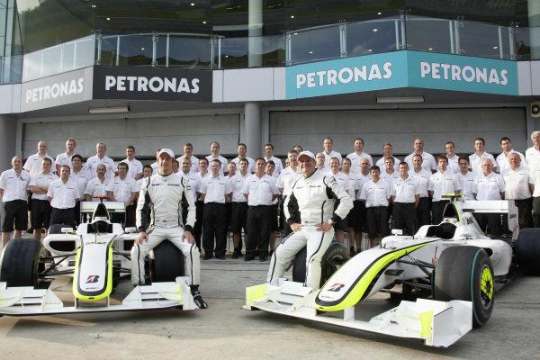 Brawn GP team photo.