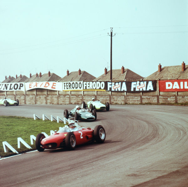 1962 BARC 200.Aintree, Great Britain.29 April 1962.Giancarlo Baghetti (Ferrari Dino 156), 4th position.Ref-3/0461.World - LAT Photographic