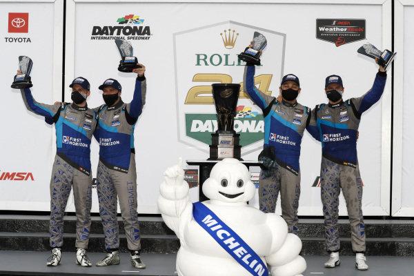#57 Winward Racing Mercedes-AMG GT3, GTD: Maro Engel, Philip Ellis, Indy Dontje, Russell Ward winner, victory lane