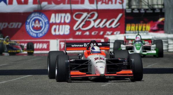 2001 CART Toyota Grand Prix of Long Beach, 6-8 April, 2001, Streets of Long Beach, CA, USAMax Wilson in front-2001, Michael L. Levitt, USALAT Photographic