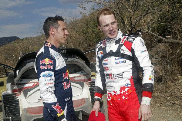 Julien Ingrassia (FRA), M-Sport World Rally Team and Jari-Matti Latvala (FIN), Toyota Gazoo Racing WRC at World Rally Championship, Rd3, Rally Mexico, Preparations and Shakedown, Leon, Mexico, 8 March 2017.