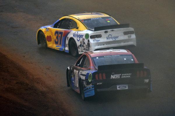 #37: Ryan Preece, JTG Daugherty Racing, Chevrolet Camaro BUSH'S Beans/Kroger and #78: Shane Golobic, Live Fast Motorsports, Ford Mustang Elk Grove Ford/NOS Energy