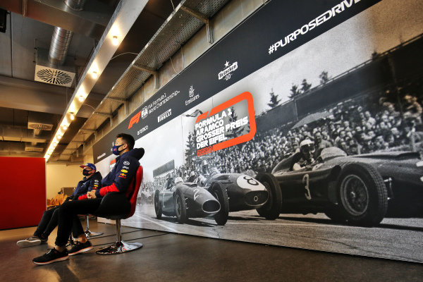 Alexander Albon, Red Bull Racing and Max Verstappen, Red Bull Racing in the press conference