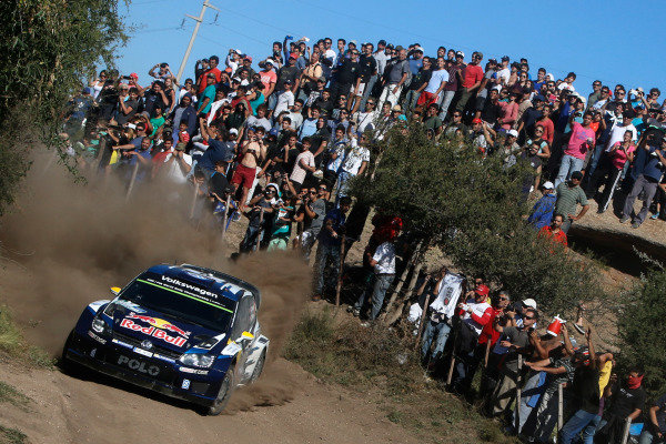 Andreas Mikkelsen (NOR) / Ola Floene (NOR) Volkswagen Polo R WRC Andreas Mikkelsen (NOR) / Mikko Markkula (FIN), Volkswagen Polo R WRC at World Rally Championship, Rd4, Rally Argentina, Day Three, Carlos Paz, Argentina, 26 April 2015.