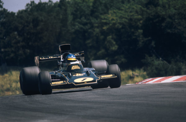 1974 French Grand Prix  Dijon-Prenois, France. 5-7th July 1974.  Ronnie Peterson, Lotus 72E Ford, 1st position.  Ref: 74FRA06. World Copyright: LAT Photographic