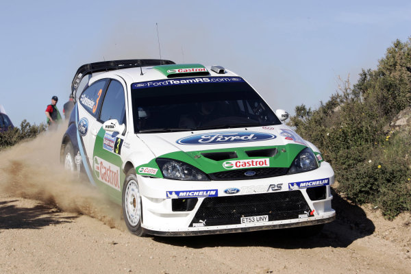 2005 World Rally ChampionshipRallye d'Italia, Sardinia, Italy. 29th April - 1st May 2005Toni Gardemeister (Ford Focus RS RC 04), action.World Copyright: McKlein/LAT Photographicref: Digital Image Only