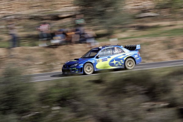 2006 FIA World Rally Champs. Round four Rally Catalunya Spain. 24-26th March 2006Petter Solberg, Subaru, action.World Copyright: Mcklein/LAT