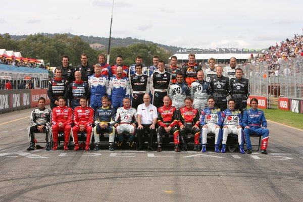 2006 Australian V8 Supercars Clipsal 500, Adelaide, Australia. 25th - 26th March 2006. 2006 Drivers line up photo. World Copyright: Mark Horsburgh/LAT Photographic ref: Digital Image Only.
