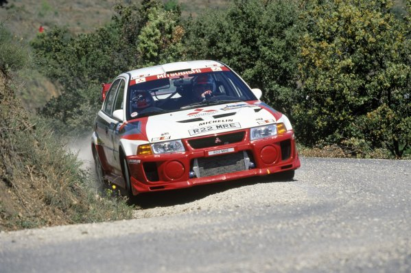 1998 World Rally Championship.Catalunya Rally, Spain. 19-22 April 1998.Richard Burns/Robert Reid (Mitsubishi Carisma GT Evo5), 4th position.World Copyright: LAT PhotographicRef: 35mm transparency 98RALLY13