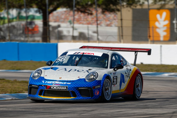 2017 Porsche GT3 Cup USA Sebring International Raceway, Sebring, FL USA Friday 17 March 2017 56, David Baker, GT3P, USA, M, 2017 Porsche 991 World Copyright: Jake Galstad/LAT Images ref: Digital Image lat-galstad-SIR-0317-14851