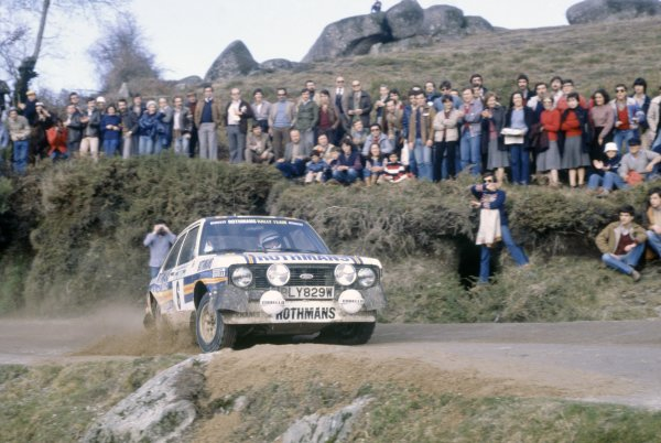 1981 World Rally Championship. Portuguese Rally, Portugal. 4th - 7th March 1981. Ari Vatanen/David Richards (Ford Escort RS1800), retired, action. World Copyright: LAT Photographic Ref:  81RALLY12