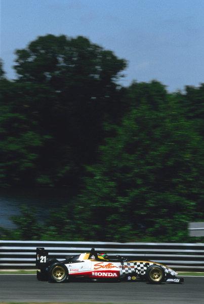 2003 British Formula Three ChampionshipOulton Park, England. 12th - 13th July 2003.Race winner Alan van der Merwe (Carlin), action.World Copyright: Glenn Dunbar/ LAT Photographicref: 03F3Oulton14