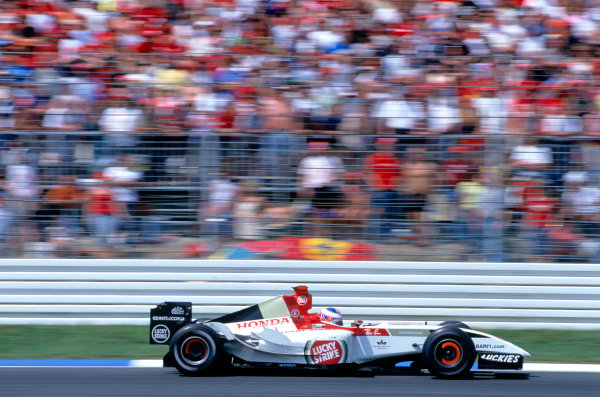 2004 German Grand PrixxHockenheim, Germany. 23rd - 25th July.Jenson Button, BAR Honda 006. Action. World Copyright:Peter Spinney/LAT Photographic Ref:35mm Image:A10
