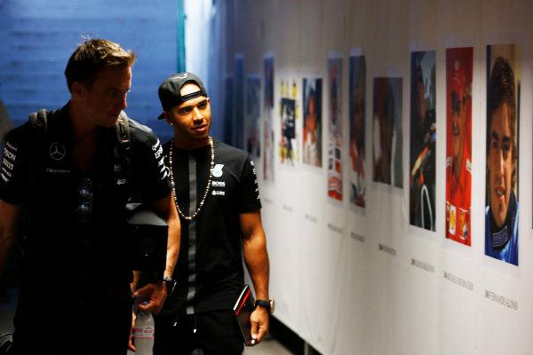 Hungaroring, Budapest, Hungary. Thursday 23 July 2015. Lewis Hamilton, Mercedes AMG. World Copyright: Charles Coates/LAT Photographic ref: Digital Image _J5R1042