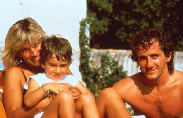 Alain Prost at home with his wife Anne-Marie and son Nicolas in Yens, Switzerland.Foemula One Drivers At Home.