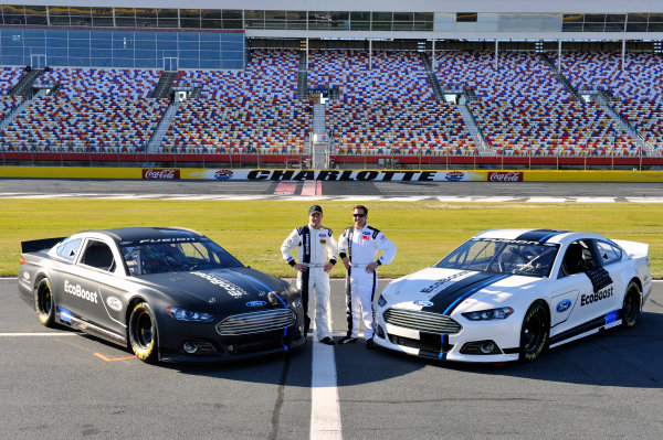 24 January, 2012, Concord, North Carolina, USAGreg Biffle, and Ricky Stenhouse Jr after running a few laps at the unveiling of the 2013 Ford Fusion which will compete in the NASCAR Sprint Cup Series in 2013.(c)2012, LAT SouthLAT Photo USA