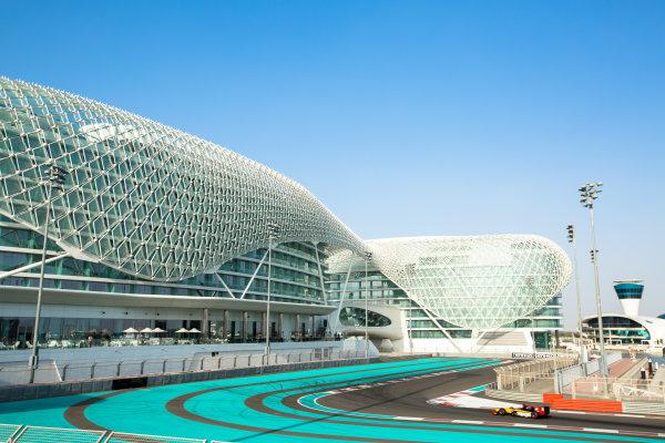 2014 GP2 Series Test 1  Yas Marina Circuit, Abu Dhabi, UAE.  Wednesday 12 March 2014. Stephane Richelmi (MON) DAMS  Photo: Malcolm Griffiths/GP2 Series Media Service ref: Digital Image A50A4739