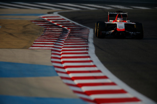 2014 F1 Pre Season Test 2 - Day 3 Bahrain International Circuit, Bahrain. Saturday 22 February 2014. Jules Bianchi, Marussia MR03 Ferrari. World Copyright: Glenn Dunbar/LAT Photographic. ref: Digital Image _W2Q4587