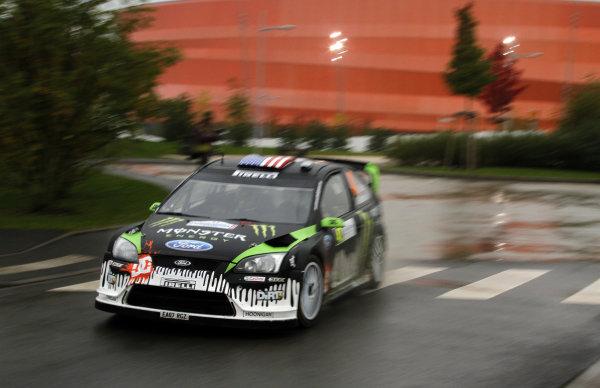 Round 11Rally de France 30/9-3/10Ken Block, Ford WRC, Action.Worldwide Copyright: McKlein/LAT