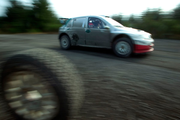 Clatteringshaws Forest, Scotland. 5th September 2005.Colin McRae tests the Skoda Fabia WRC05 prior to the WRC Wales Rally of Great Britain, action.World Copyright: Malcolm Grifffiths/LAT Photographic.Ref: Digital Image Only.