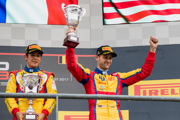 2017 GP3 Series Round 5.  Spa-Francorchamps, Spa, Belgium. Sunday 27 August 2017. Ryan Tveter (USA, Trident).  Photo: Zak Mauger/GP3 Series Media Service. ref: Digital Image _56I3088