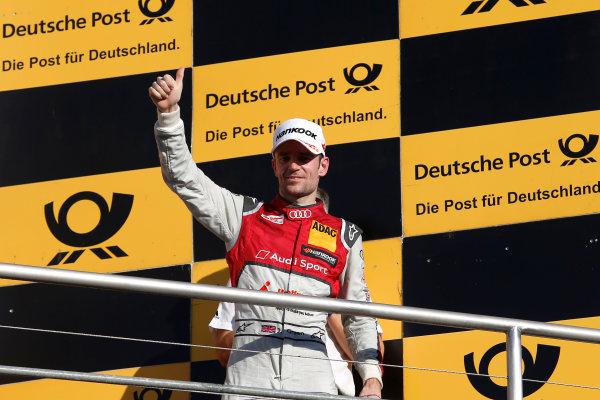 2017 DTM Round 9  Hockenheimring, Germany  Sunday 15 October 2017. Champions Podium: third place Jamie Green, Audi Sport Team Rosberg, Audi RS 5 DTM  World Copyright: Alexander Trienitz/LAT Images ref: Digital Image 2017-DTM-HH2-AT2-2124