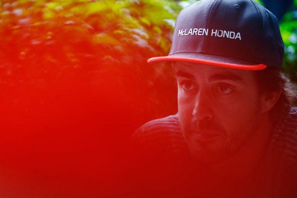 Sepang International Circuit, Sepang, Malaysia. Thursday 28 September 2017. Fernando Alonso, McLaren.  World Copyright: Andy Hone/LAT Images  ref: Digital Image _ONZ8766