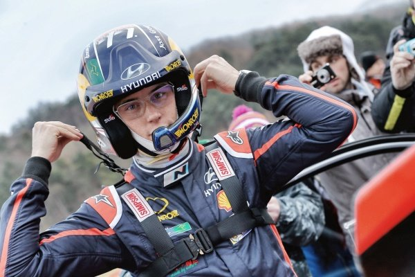 www.sutton-images.com -   Thierry Neuville (BEL) Hyundai i20 WRC at the FIA World Rally Championship, Rd1, Rally Monte Carlo, Preparations and Shakedown, Monte Carlo, 22 January 2015. Photo Sutton Images