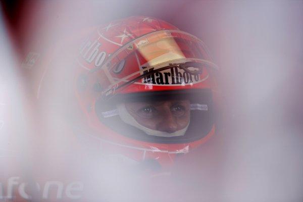 2006 Japanese Grand Prix - Friday Practice Suzuka, Japan. 5th - 8th October 2006 Michael Schumacher, Ferrari 248F1, portrait, helmet. World Copyright: Charles Coates/LAT Photographic. ref: Digital Image ZK5Y5982